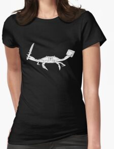 Gangster Crab  Womens Fitted T-Shirt