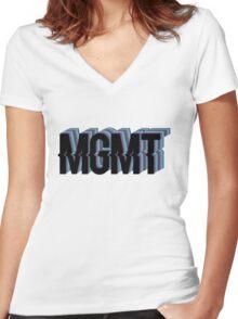 MGMT Original Logo Women's Fitted V-Neck T-Shirt
