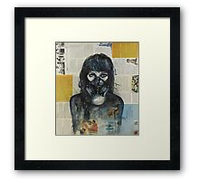 Eyes Behind the Mask Framed Print