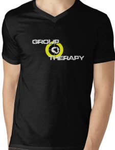 Group Therapy  - white text Mens V-Neck T-Shirt