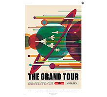 Retro NASA Space Poster - The Grand Tour Photographic Print