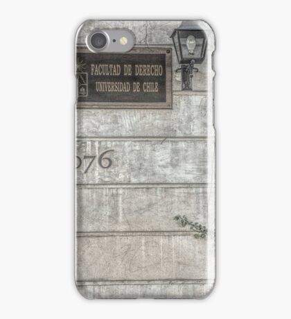 Faculty of Law - Santiago - Grunged Filter iPhone Case/Skin