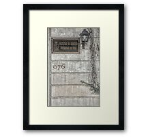 Faculty of Law - Santiago - Grunged Filter Framed Print