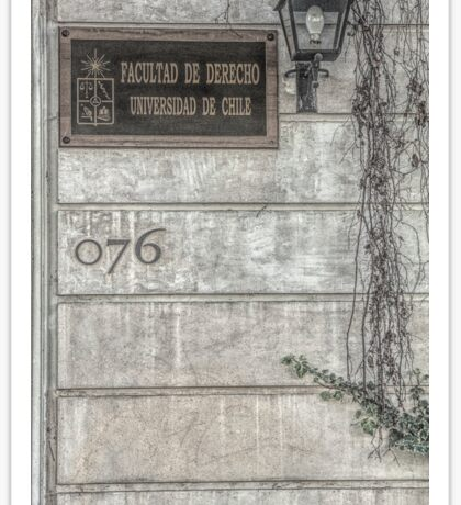 Faculty of Law - Santiago - Grunged Filter Sticker