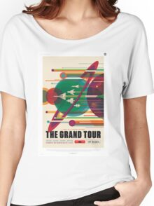 Retro NASA Space Poster - The Grand Tour Women's Relaxed Fit T-Shirt