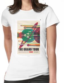 Retro NASA Space Poster - The Grand Tour Womens Fitted T-Shirt