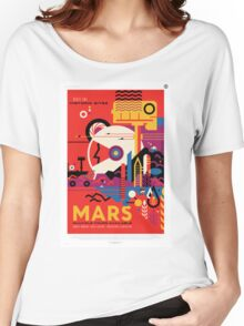 Mars - NASA Travel Poster Women's Relaxed Fit T-Shirt
