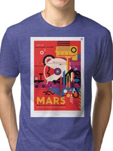 Mars - NASA Travel Poster Tri-blend T-Shirt