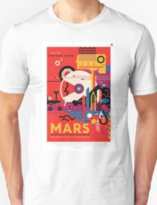 Mars - NASA Travel Poster Unisex T-Shirt