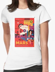 Mars - NASA Travel Poster Womens Fitted T-Shirt