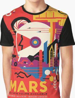 Mars - NASA Travel Poster Graphic T-Shirt
