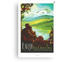 Earth - NASA Travel Poster Canvas Print