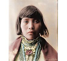 Native American Girl Photographic Print