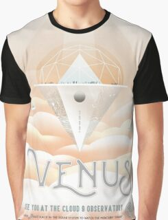 Retro NASA Space Poster - Venus Graphic T-Shirt