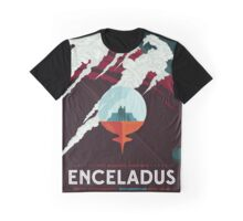 Retro NASA Space Poster - Enceladus Graphic T-Shirt