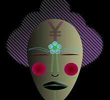 Cyber Geisha Tribal Kabuki Mask by kevin hu