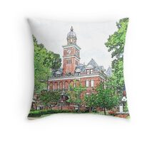 """Courthouse"" Throw Pillow"