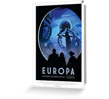 Retro NASA Space Poster - Europa Greeting Card