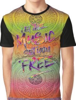 Let the Music Set You Free Rainbow Opera Garnier Paris Graphic T-Shirt