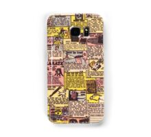 Comic Book Ads Samsung Galaxy Case/Skin