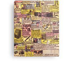 Comic Book Ads Metal Print