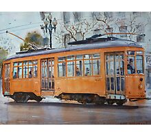Orange Streetcar, San Francisco Photographic Print