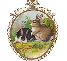 Vintage Easter Bunnies by misskris766
