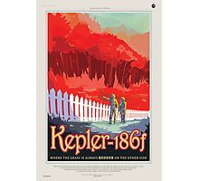 Retro NASA Space Poster - Kepler Photographic Print