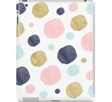 Watercolor and Glitter Dots iPad Case/Skin