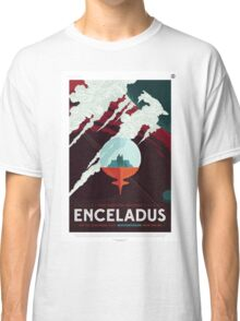 Enceladus - NASA Travel Poster Classic T-Shirt