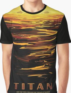 Titan - NASA Travel Poster Graphic T-Shirt
