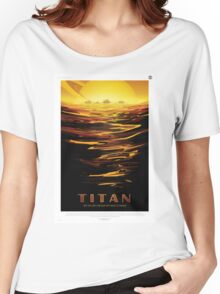 Titan - NASA Travel Poster Women's Relaxed Fit T-Shirt