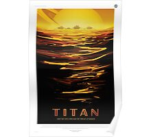 Titan - NASA Travel Poster Poster