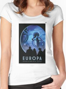 Europa - NASA Travel Poster Women's Fitted Scoop T-Shirt