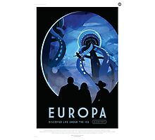 Europa - NASA Travel Poster Photographic Print