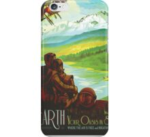 Earth - NASA Travel Poster iPhone Case/Skin