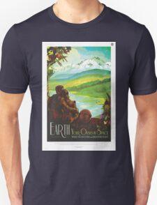 Retro NASA Space Poster - Earth Unisex T-Shirt