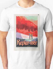 Retro NASA Space Poster - Kepler Unisex T-Shirt