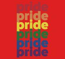 LGBTQ Pride (rainbow on white background) One Piece - Short Sleeve
