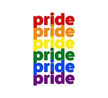 LGBTQ Pride (rainbow on white background) Photographic Print