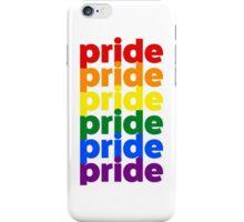 LGBTQ Pride (rainbow on white background) iPhone Case/Skin