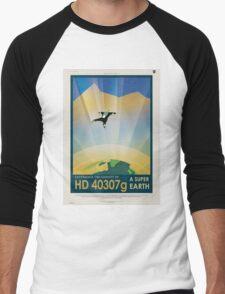 Retro NASA Space Poster - Super Earth Men's Baseball ¾ T-Shirt