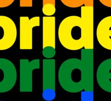 LGBTQ Pride (rainbow on black background) Sticker