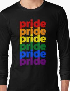 LGBTQ Pride (rainbow on black background) Long Sleeve T-Shirt