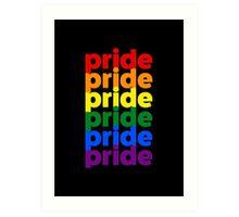 LGBTQ Pride (rainbow on black background) Art Print