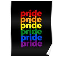 LGBTQ Pride (rainbow on black background) Poster