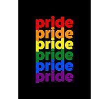 LGBTQ Pride (rainbow on black background) Photographic Print