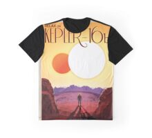 Retro NASA Space Poster -Kepler Graphic T-Shirt