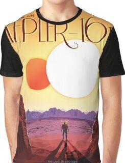 Retro NASA Space Poster -Kepler Graphic T-Shirt