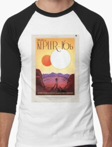 Kepler 16-b - NASA Travel Poster Men's Baseball ¾ T-Shirt